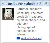 Inside My Yahoo!: Meet Lucy. The most precisely measured, colorfully charted, and odorably photographed hamster on the Internet.