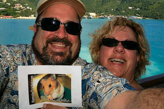 Extreme HamsterTrackin the Caribbean by Kris and her husband !