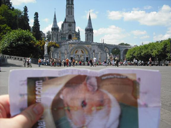 Extreme HamsterTrackin' Lourdes in France by Rhiannon.