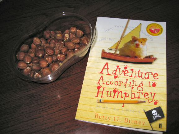 The Book 'Adventure According to Humphrey, a gift from Sandra.